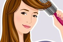 Hair styles and styling