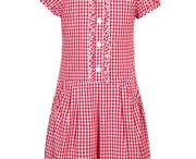School Summer Gingham Dresses