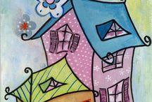 My paintings / Moje obrazy malowane akrylem