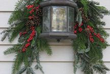 Christmas decorating - outdoor