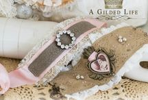 Spellbinders A Gilded Life Collection / Spellbinders® presents A Gilded Life Studios designed by Debbie Murray and Shea Fragoso. This unique and glamorous line of mixed media products, bring romance, European flair and affordable luxury to all your handmade creations. Perfect to create one-of-a-kind jewelry pieces, inspired home decor art, delicate embellishments to adorn fabric pieces, personalized gifts, mixed media art and paper creations. / by Spellbinders