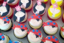 Princess and pirate cupcakes