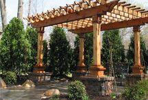 Backyard Ideas / remodeling the backyard and searching for interesting ideas for fire pits, landscaping, dog run and more