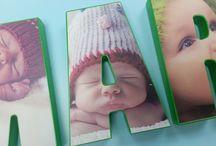Letras para niños / Letras decorativas con las fotos mas bonitas de nuestros niños.