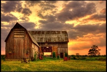 Old Barns / I just love the rustic beauty of old barns.