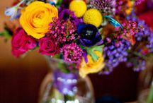 Inspire you {Bright flowers} / Brightly coloured wedding flower inspiration