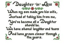 Daughter in law