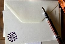 Everyday flat note card sets / Letterpress printed flat note cards perfect for your everyday old-fashioned correspondence.