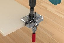 Cross Dowel Jig / Cross Dowel Jig is produced for assembling 18 to 30 mm wood & panels. You can drill holes using the self-centering drill bits for barrel nuts in standard diameter 10 mm & depth 14 mm, and at the same time you can drill bolt holes on both sides of the wood or panels with this jig.
