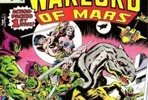 John Carter, Warlord of Mars. / John Carter, Warlord of Mars is a Marvel Comics series created in 1977 by Marv Wolfman (writer) and Gil Kane (penciller), based on the Barsoom series of Edgar Rice Burroughs and featuring the eponymous character.  The entire series (with few exceptions) takes place between the third and fourth paragraphs of chapter 27 of Burroughs' novel A Princess of Mars.