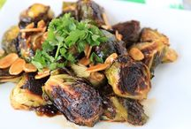 brussel sprouts with sriracha and honey