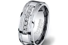 Tungsten Rings with Stones