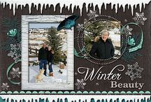 Scrapbook Layouts - Winter/Christmas