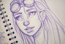 Sketches girls