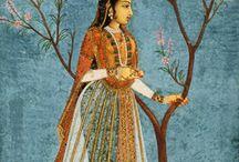 Miniature  Mughal  インドの細密画