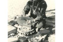 Navajo silversmith