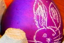Easter Eggs (Dye with food color, the colors are so bright!)