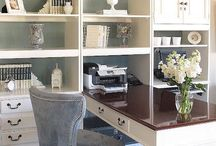 Craft Room Organization & Home Office / Craft Room Organization & Home Office ideas for crafting and DIY businesses. Work from home, home business, wahm.