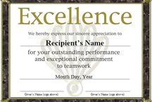 Awards certificates template