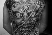 back oriental tattoo