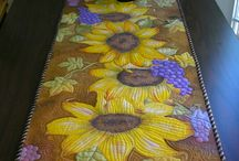 Painted Art Quilts / Hand Painted Art Quilts
