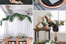 black and copper decor inspiration