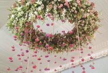 украшение цветочное д\потолка