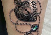 kilit ve anahtar tattoo