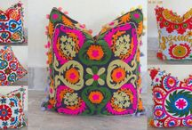Suzani Embroidered Cushion Covers Uzbek Pillow Covers
