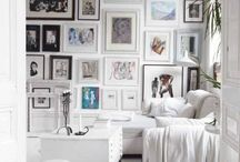 Hanging Pictures-Photo Wall / How to hang art on walls, framing art, picture frames, display photos on walls, picture hanging systems. Interior design ideas. Decorating tips / by Prismma — Interior Design Magazine
