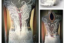 Снежная тема платья