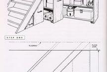 Escalier aménagement sous