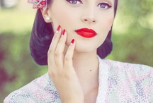 Pin up Makeup / Inspirational images for retro pin up looks