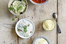 (dip/brood/toast)salades/sauzen