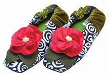 Goody Goody Slippers / Our slippers are one of our Goody Goody favorites. Flowers on the feet and no cares in the world. They are radically comfortable and entirely unconventional. Try em' you'll we walking on clouds.