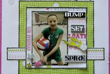 Scrapbooking Volleyball / volleyball