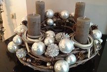 věnce, svícny