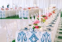 Blue Pattern Styled Shoot