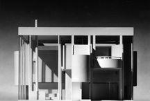 RM 1969 House in Pound Ridge Unbuilt / RICHARD MEIER 1969 - aka House in Pound Ridge NY.  Unbuilt.  Won an AIANY Merit Award in 1973.