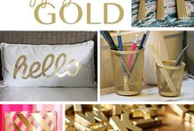 DIY gold projects / Gold gold gold!!!!