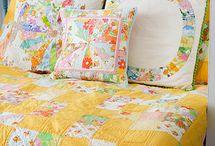 Vintage sheet quilts