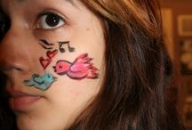 Valentine's Day face painting / Valentine's Day face painting
