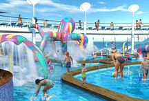 Thema   Kindvriendelijke cruises / Kinderen hebben de tijd van hun leven aan boord van het schip. Er is zoveel te doen! Meerdere zwembaden, animatie, vriendjes uit de hele wereld en als de kinderen genieten, doet u dat ook. Neem ze mee op een cruise langs boeiende, culturele steden of op een tropische route langs witte stranden.