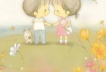Children's illustrations / Маленькое воплощение милости и добра
