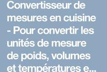 Mesures en cuisine