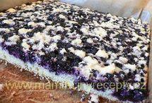 čučoriedkový koláč s drob.