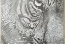 Christine Walker graphite and charcoal