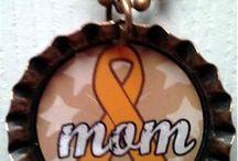 Orange Awareness Ribbon Jewelry