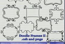 Free borders to download. bracket frames