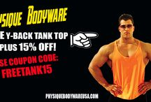 FREE Y-Back Tank Top Deal! / Get your FREE Y-back stringer tank top plus 15% off ANY ORDER!  Use Coupon Code: FREETANK15 This weekend only!